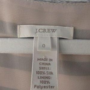J. Crew Tops - J. Crew 100% Silk Faux Wrap Top Sz 0 E43